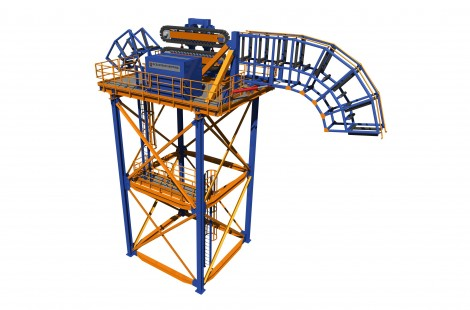 Containerised offshore cable loading tower